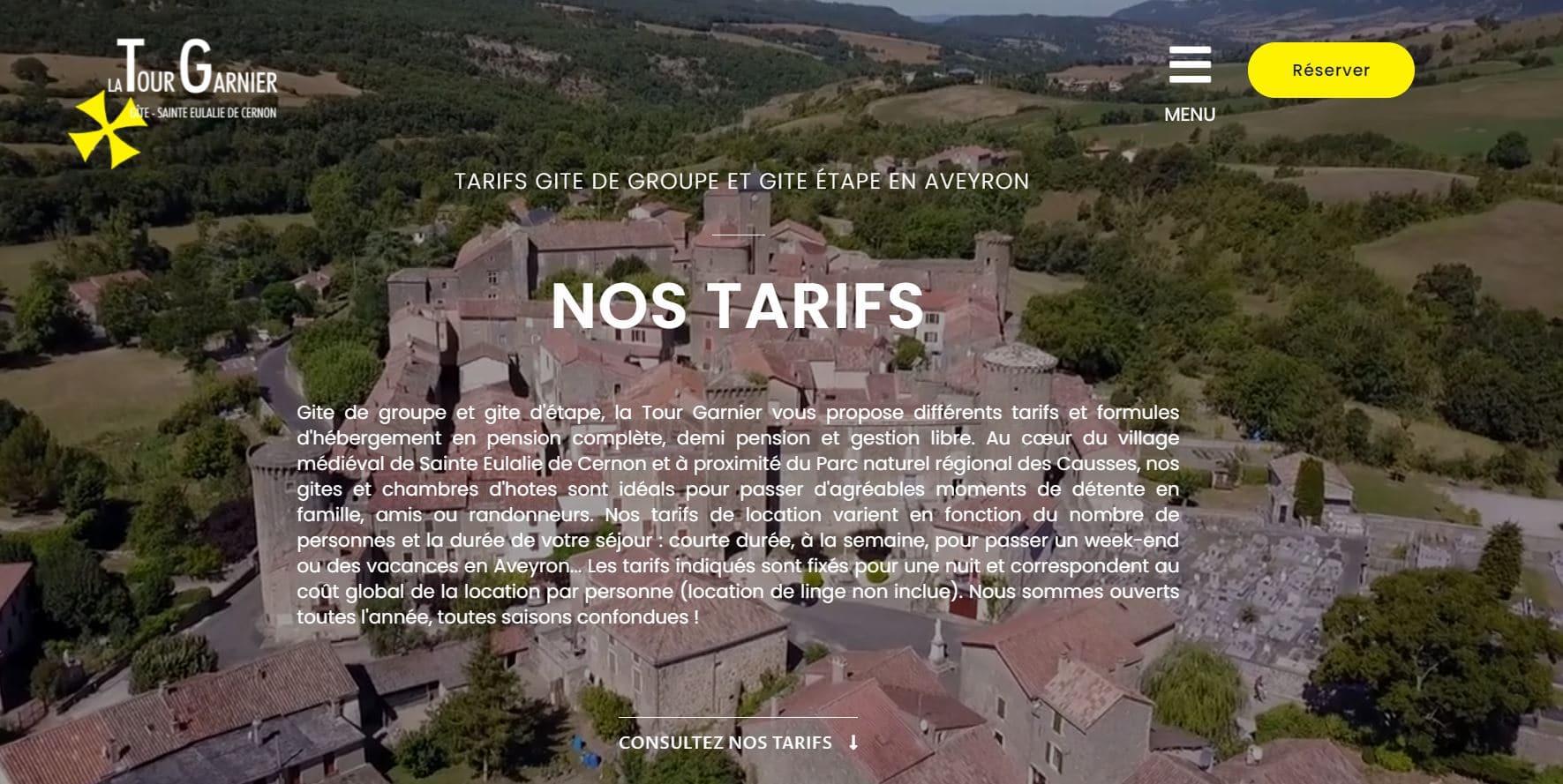 création site internet gite toulouse haute garonne midi pyrénées occitanie