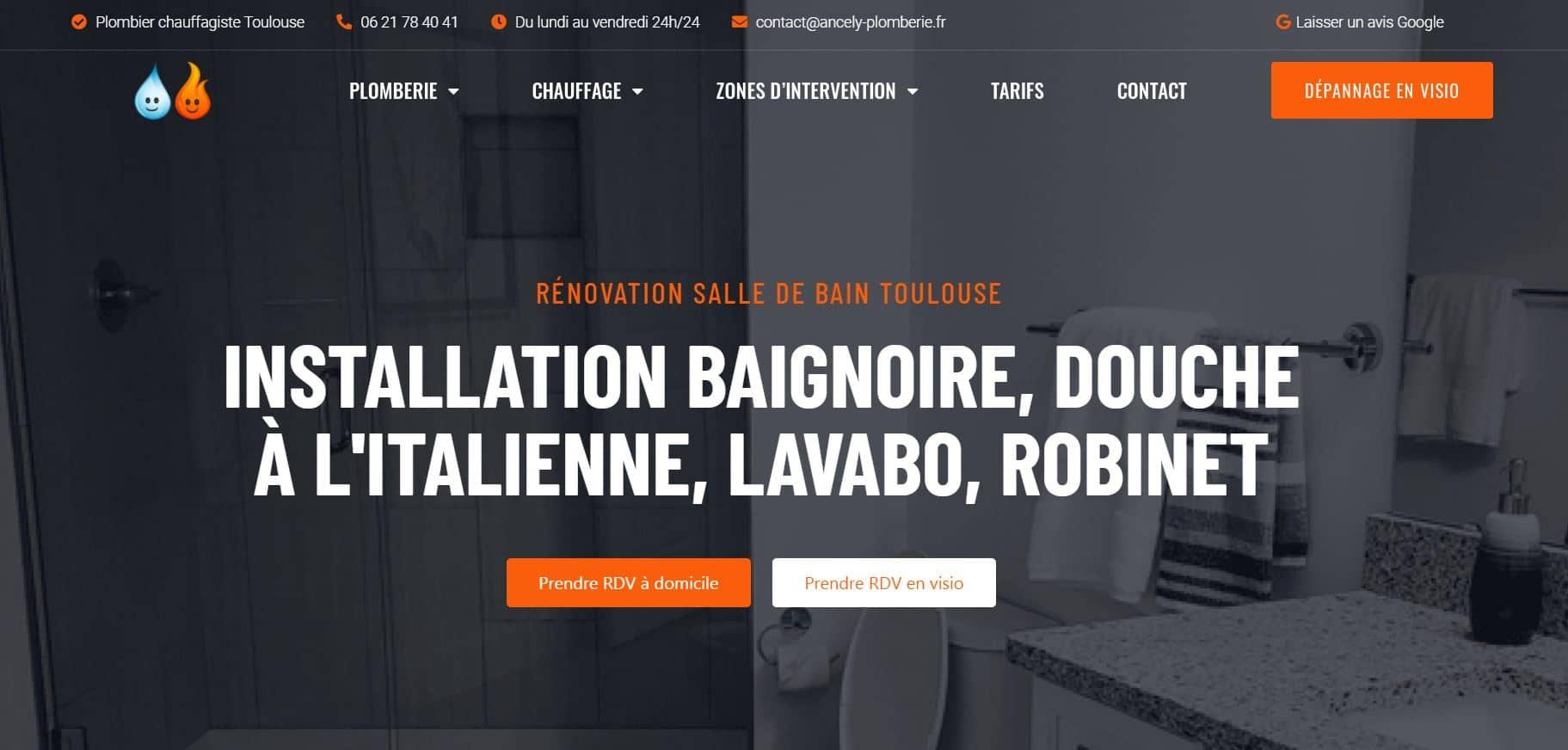 creation site internet plombier toulouse haute garonne occitanie 31000