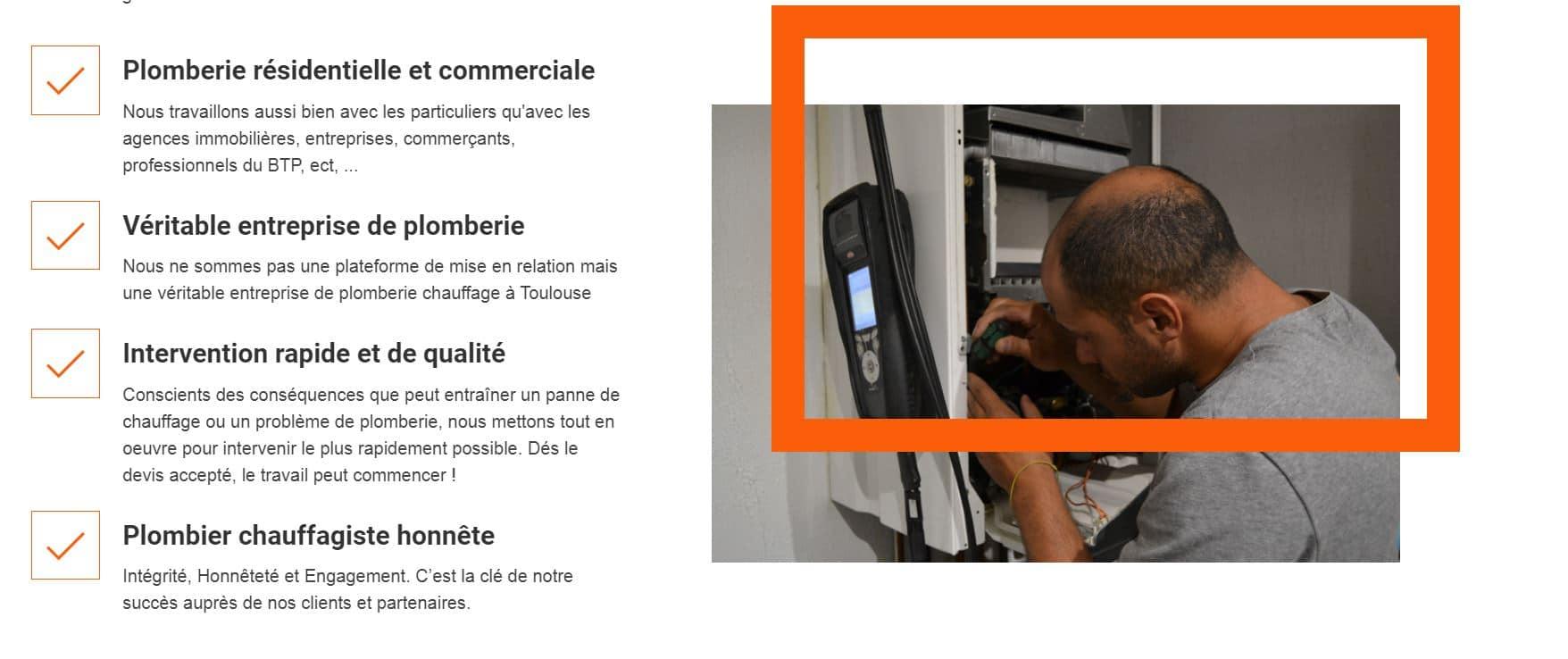 création site internet pour plombier toulouse 31000 haute garonne occitanie midi pyrénées