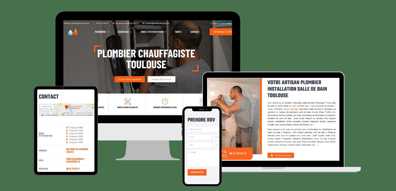 création site web plombier toulouse haute garonne occitanie
